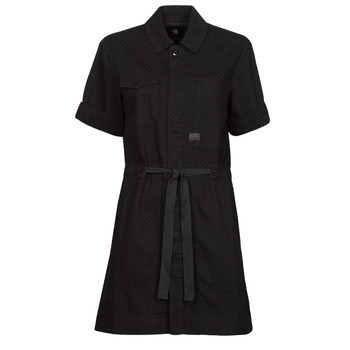 material Women Short Dresses G-Star Raw ARMY DRESS SHORT SLEEVE Black