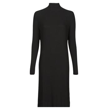 material Women Long Dresses G-Star Raw RIB MOCK SLIM DRESS Black