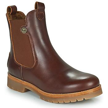 Shoes Women Mid boots Panama Jack FRANCESCA Brown