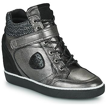 Shoes Women High top trainers Philippe Morvan NOEK Black / Silver
