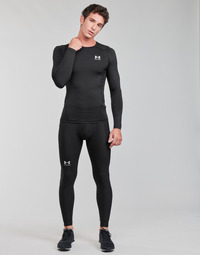 material Men leggings Under Armour UA HG ARMOUR LEGGINGS Black / White