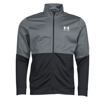 material Men sweaters Under Armour UA PIQUE TRACK JACKET Grey / White