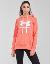 material Women sweaters Under Armour RIVAL FLEECE LOGO HOODIE Pink