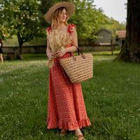 material Women Long Dresses Céleste AURORE version courte Red