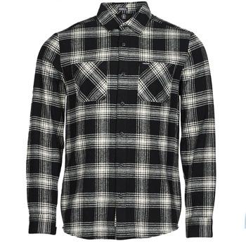 material Men long-sleeved shirts Volcom TONE STONE L/S Black