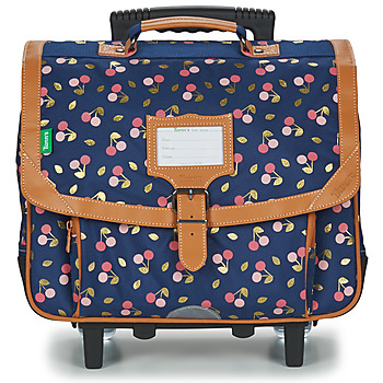 Bags Girl Rucksacks / Trolley bags Tann's ALEXA TROLLEY CARTABLE 38 CM Marine