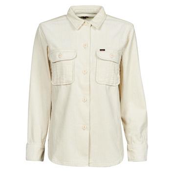 material Women Jackets / Blazers Lee OVERSHIRT White