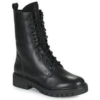 Shoes Women Mid boots Kaporal ZELIZA Black / Glitter