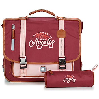 Bags Girl Satchels Ooban's FUNNY LOS ANGELES CARTABLE 38 CM Pink