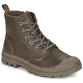 Shoes Mid boots Palladium PAMPA LEATHER Camel