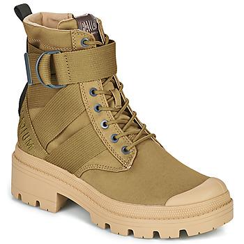 Shoes Women Mid boots Palladium PALLABASE TACT S TX Green