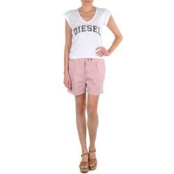 material Women Shorts / Bermudas Diesel HANTU Pink