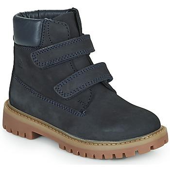 Shoes Boy Mid boots Citrouille et Compagnie PAXA Blue