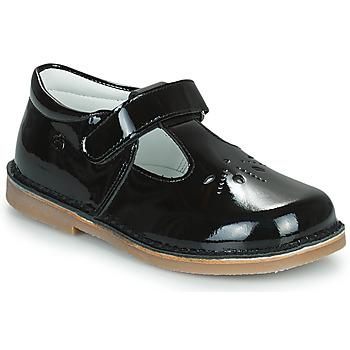 Shoes Girl Ballerinas Citrouille et Compagnie OTAL Black / Varnish