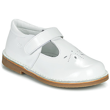 Shoes Girl Ballerinas Citrouille et Compagnie OTAL White / Varnish