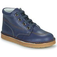 Shoes Boy Mid boots Citrouille et Compagnie PIMON Blue