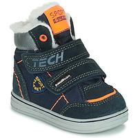Shoes Boy Mid boots Citrouille et Compagnie PALADIN Marine