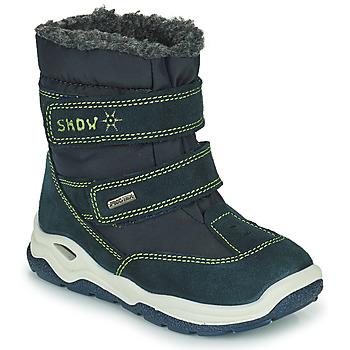 Shoes Girl Snow boots Citrouille et Compagnie POUDOU Blue / Green