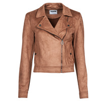material Women Leather jackets / Imitation leather Noisy May NMROCKY Cognac