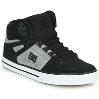 Shoes Men High top trainers DC Shoes PURE HIGH-TOP WC Black / Grey