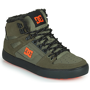 Shoes Men High top trainers DC Shoes PURE HIGH-TOP WC WNT Kaki / Black