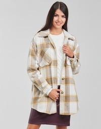 material Women Jackets / Blazers Vila VIKIMMI White / Beige