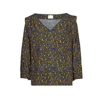 material Women Blouses Vila VIZUGI Black / Yellow / Blue