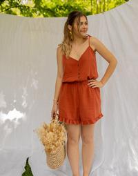material Women Jumpsuits / Dungarees Céleste NEROLI Terracotta