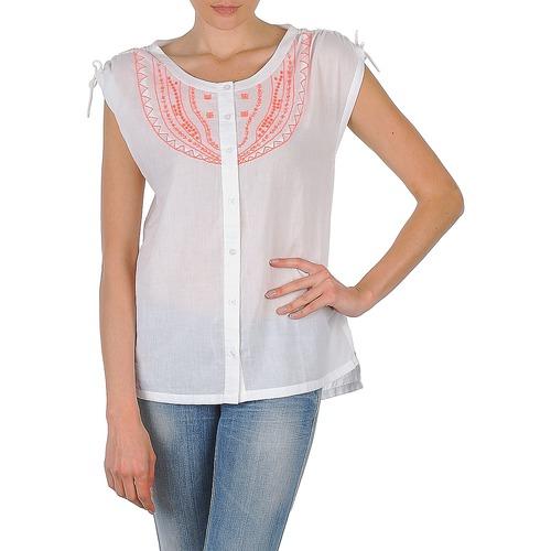 material Women short-sleeved shirts Antik Batik AYLA White