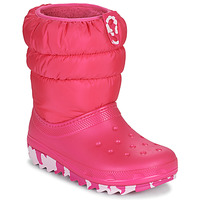 Shoes Girl Snow boots Crocs CLASSIC NEO PUFF BOOT K Pink