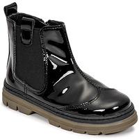 Shoes Girl Mid boots Citrouille et Compagnie PATATA Black / Varnish