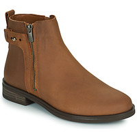 Shoes Women Mid boots Clarks MEMI LO Camel
