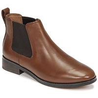Shoes Women Mid boots Clarks RIA CHELSEA Camel