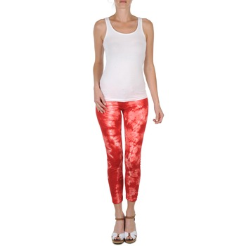 material Women cropped trousers Eleven Paris DAISY Red / White