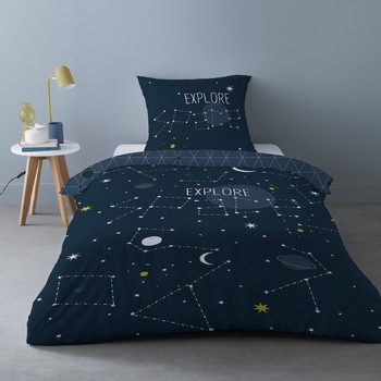 Home Bed linen Mylittleplace SCIENCE KID Blue / Marine