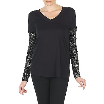 material Women Long sleeved shirts Manoush TSHIRT ML INDIAN BASIC Black