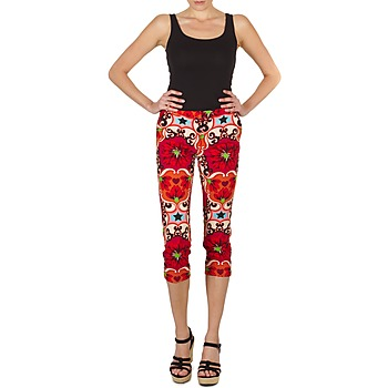 material Women cropped trousers Manoush PANTALON POPPY Red