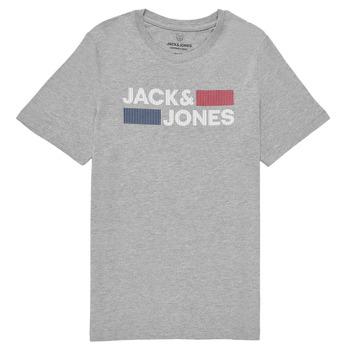material Boy short-sleeved t-shirts Jack & Jones JJECORP LOGO TEE SS Grey