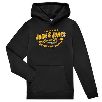 material Boy sweaters Jack & Jones JJELOGO SWEAT HOOD Black