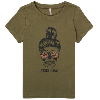 material Girl short-sleeved t-shirts Only KONKITA Kaki