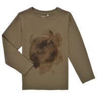 material Boy Long sleeved shirts Name it NMMKEVIN LS TOP Kaki