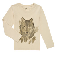 material Boy Long sleeved shirts Name it NMMKEVIN LS TOP Beige