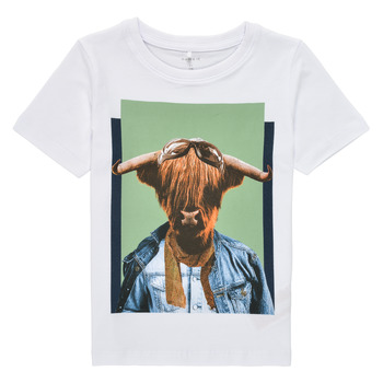 material Boy short-sleeved t-shirts Name it NMMKYLAN SS TOP White