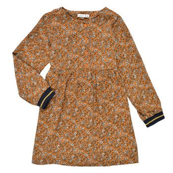 material Girl Short Dresses Name it NKFKRINFRA LS DRESS Orange