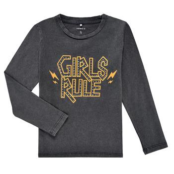 material Girl Long sleeved shirts Name it NKFNEBEL LS TOP Black