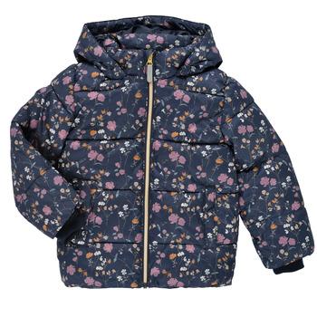 material Girl Duffel coats Name it NMFMAY PUFFER JACKET Marine / Multicolour