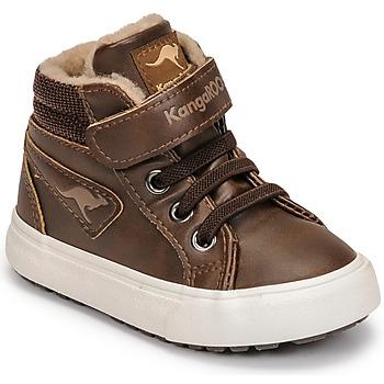 Shoes Boy High top trainers Kangaroos KAVU III Brown