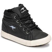 Shoes Boy High top trainers Kangaroos KAVU I Black