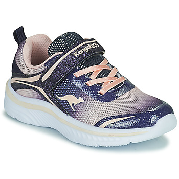 Shoes Girl Low top trainers Kangaroos K-MAID GLEAM EV Blue / Silver