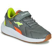 Shoes Boy Low top trainers Kangaroos K-FORT JAG EV Grey
